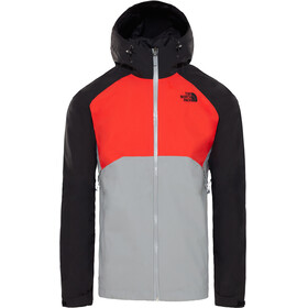 The North Face Stratos Jacket Men mid grey/fiery red/TNF black